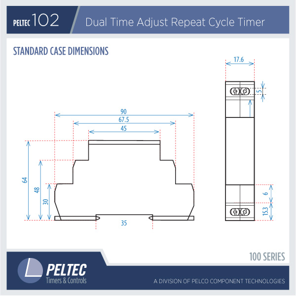 Peltec102 dimensions peltec timers din rail time delay relays din rail timer wiring diagram at reclaimingppi.co